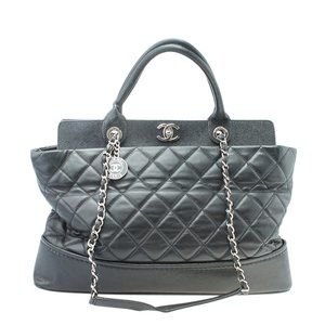 Chanel Large Be CC Quilted Chain Tote Bag 182177
